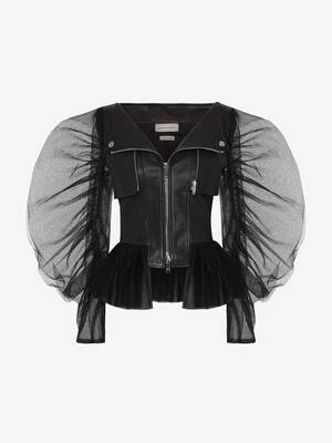 Giacca Biker in Tulle