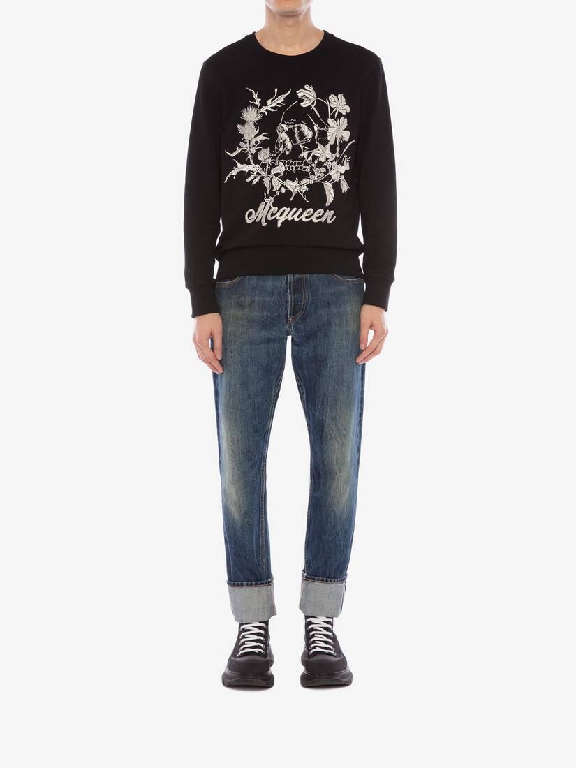 Afficher une grande image du produit 2 - Sweat-shirt à motif Floral Skull déstructuré
