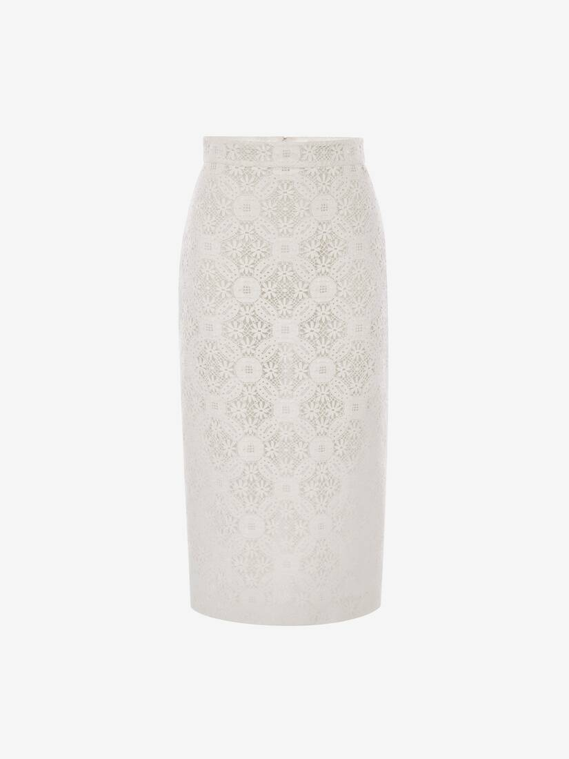 Display a large version of the product image 1 - Endangered Flower Lace Pencil Skirt