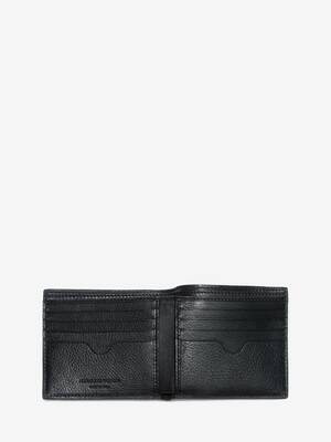 Studded Leather Billfold Wallet