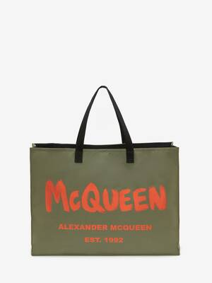 East West Tote Bag mit McQueen-Graffitiprint
