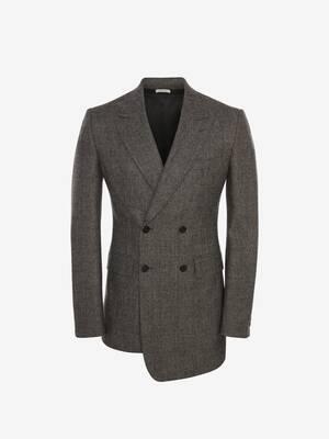 Prince of Wales Wool Flannel Jacket