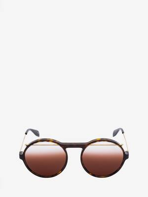 Piercing Round Acetate Sunglasses