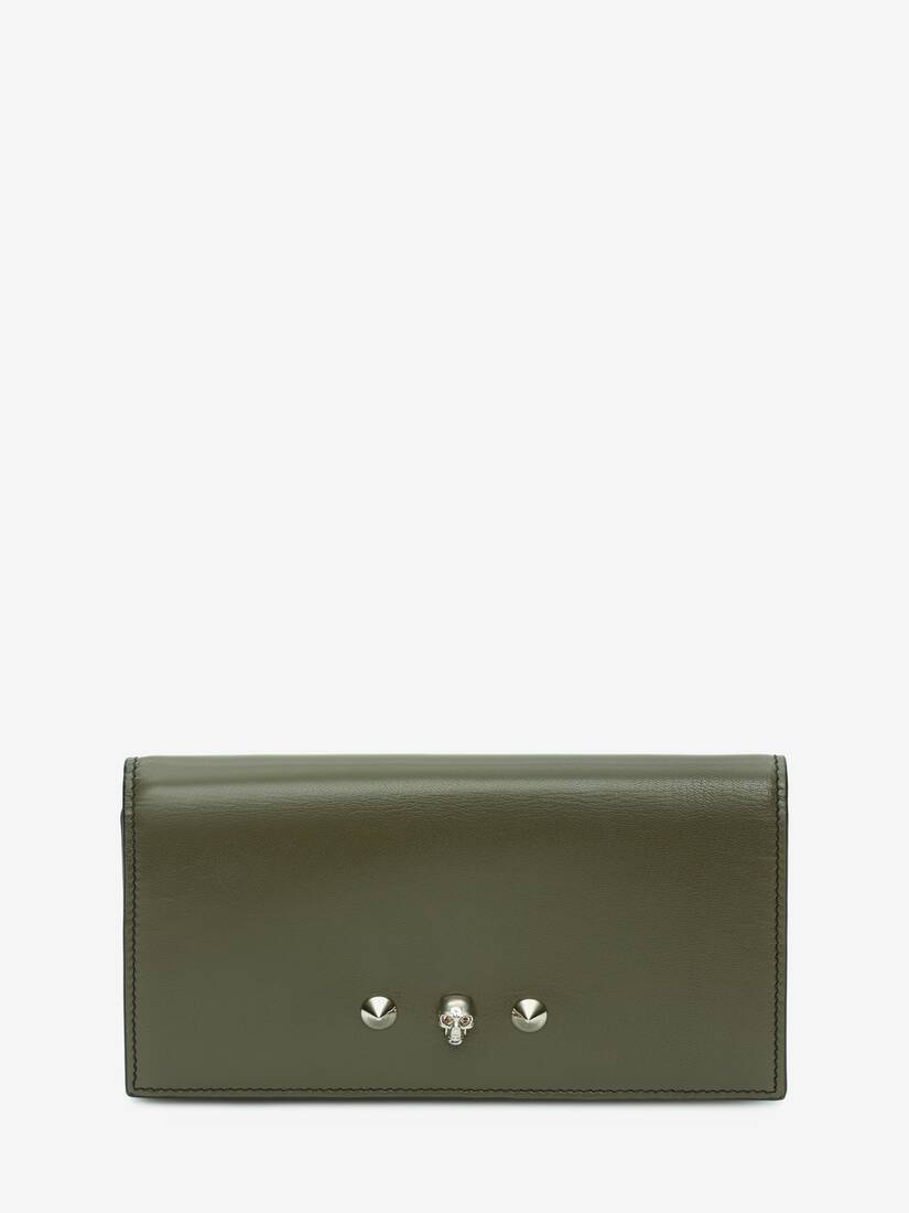 Display a large version of the product image 1 - Skull and Stud Continental Wallet