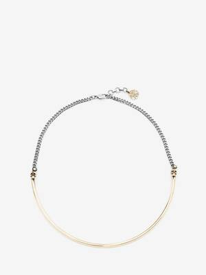 Collier chocker Skull bicolore