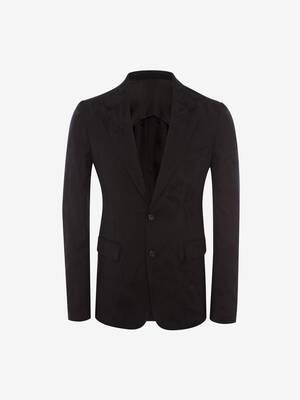토널 시슬 자카드 재킷