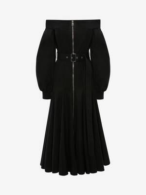 Off the Shoulder Godet Dress