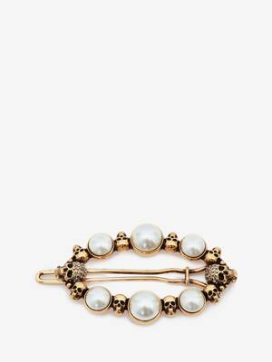 Barrette Pearly Skull