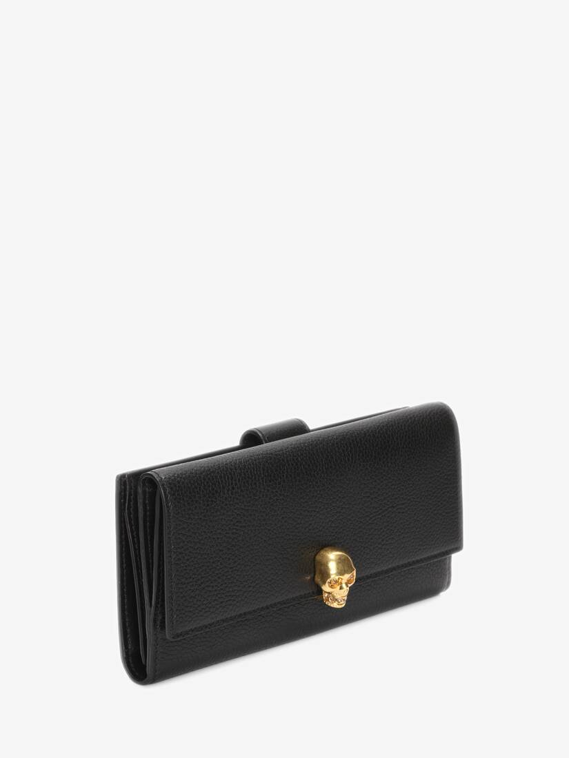 Display a large version of the product image 2 - Continental Skull Leather Wallet