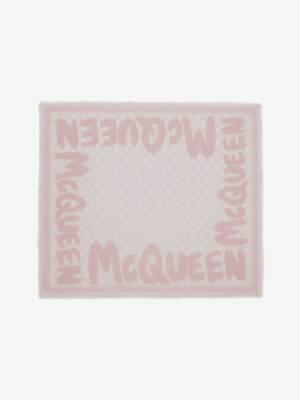 Biker-Skull-Schal mit McQueen-Graffitiprint