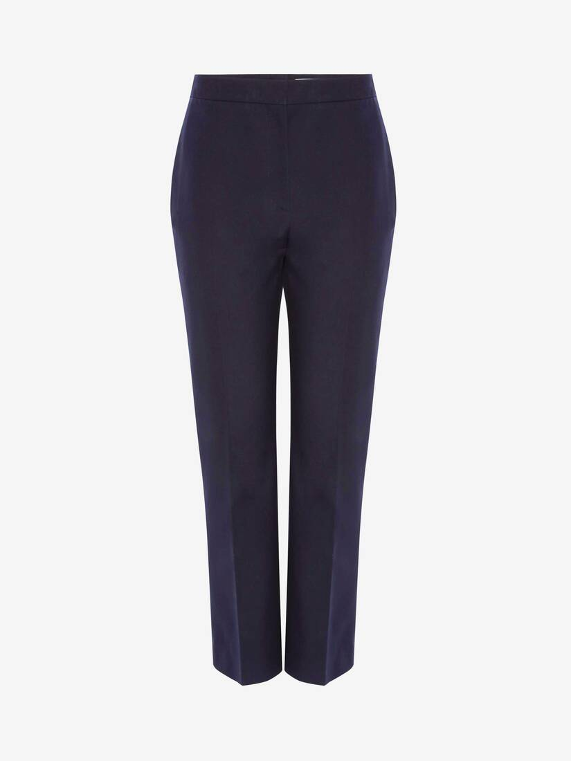 Display a large version of the product image 1 - Cotton Panama Cigarette Trouser