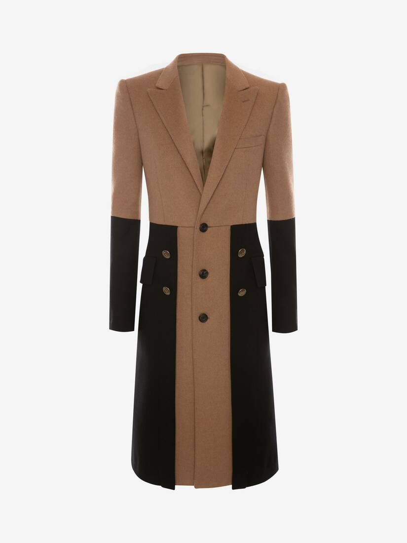 Display a large version of the product image 1 - Double Faced Wool Military Coat