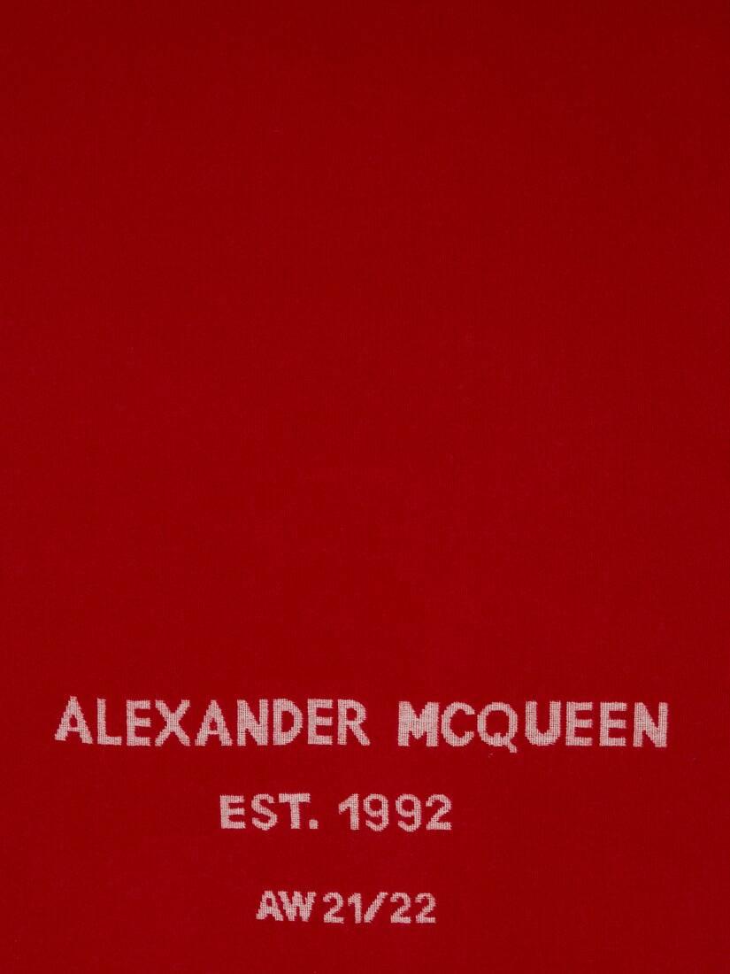 Oversize McQueen Graffiti Scarf