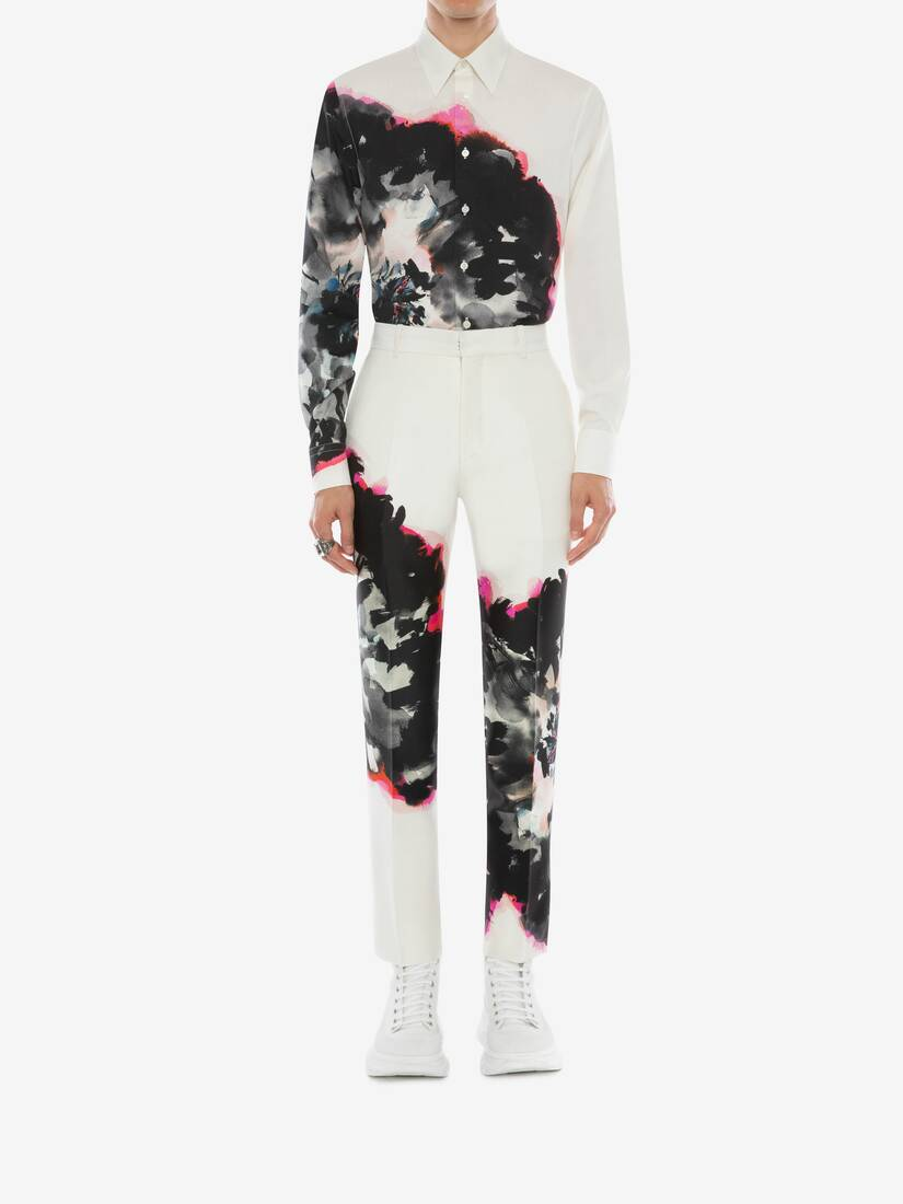 Display a large version of the product image 3 - Ink Floral Trousers