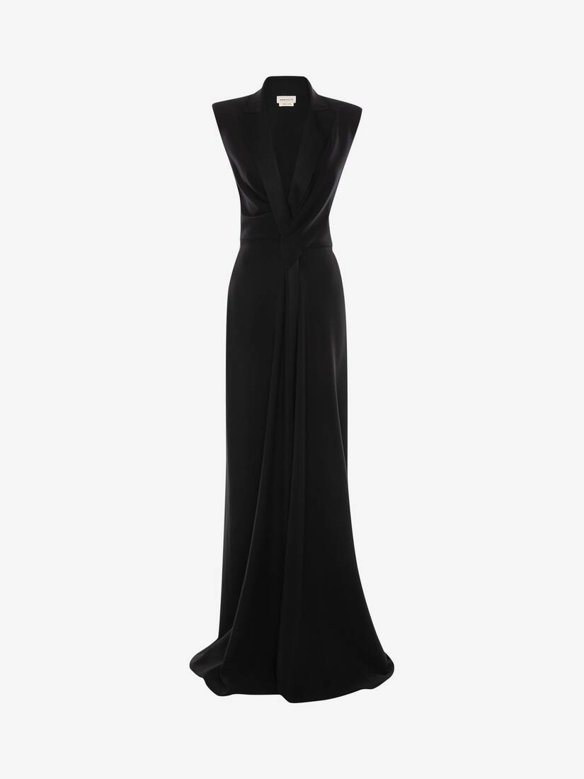 Display a large version of the product image 1 - Tuxedo Drape Evening Dress