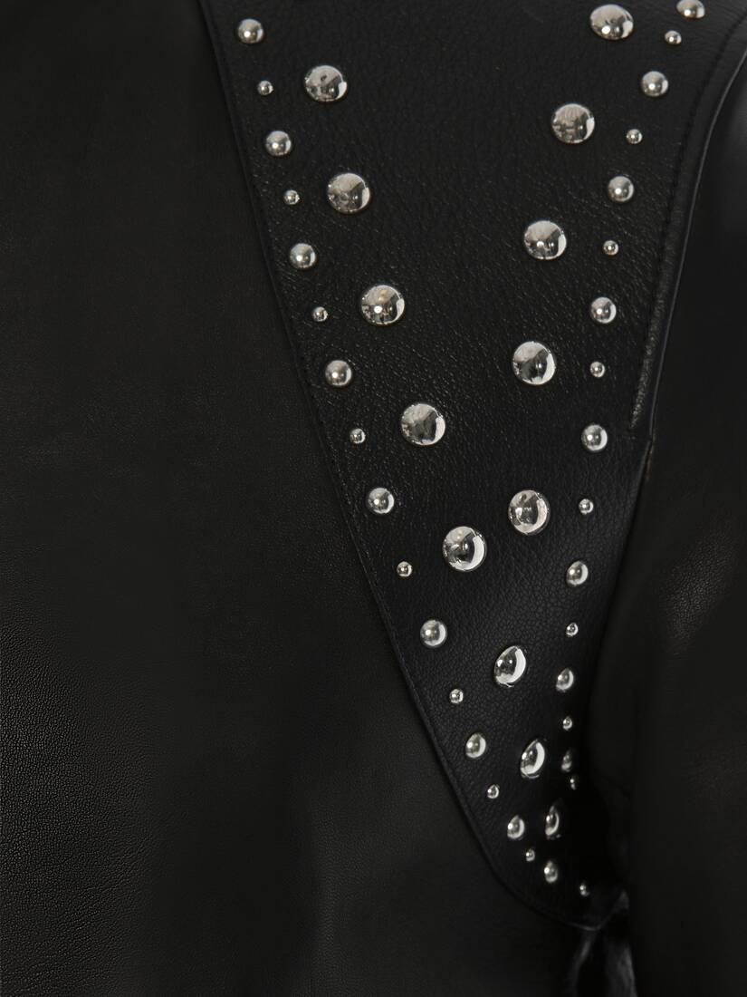 Display a large version of the product image 5 - Studded Harness Leather Bomber Jacket