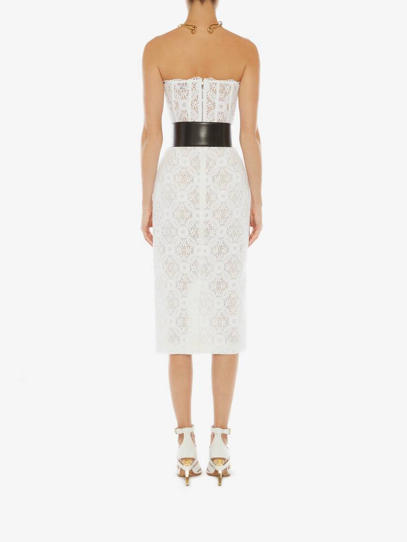 Display a large version of the product image 4 - Endangered Flower Lace Pencil Skirt