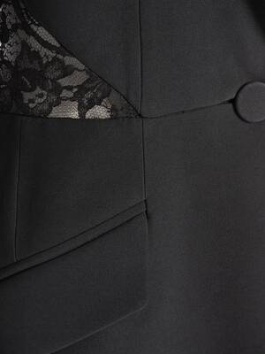Lace Leaf Crepe Jacket