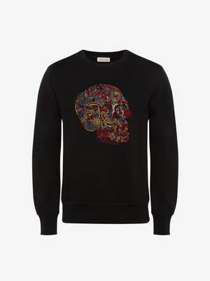 Sweat-shirt brodé London Skull