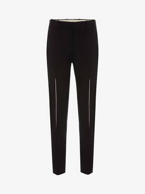 Slashed Dart Detail Pants