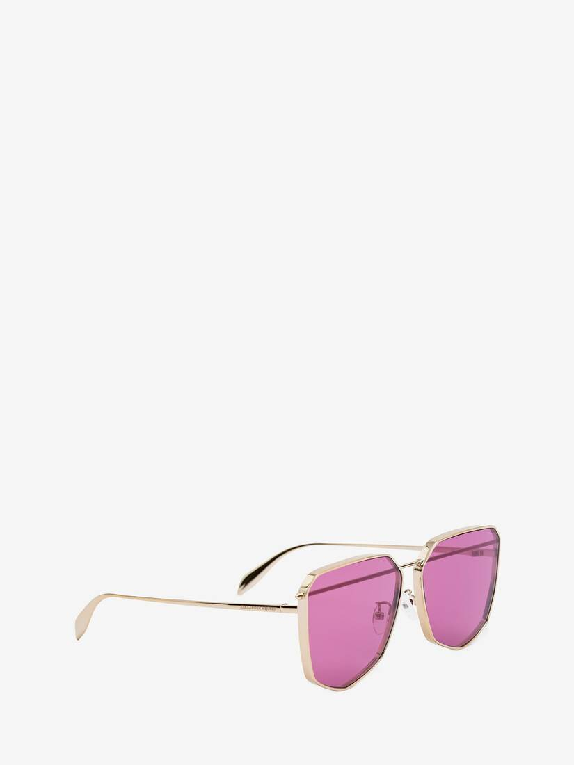 Display a large version of the product image 3 - Piercing Shield Metal Sunglasses