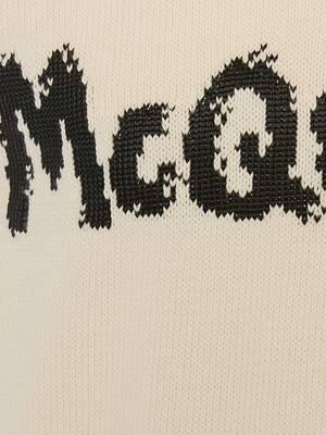 McQueen Graffiti Crew Neck Jumper