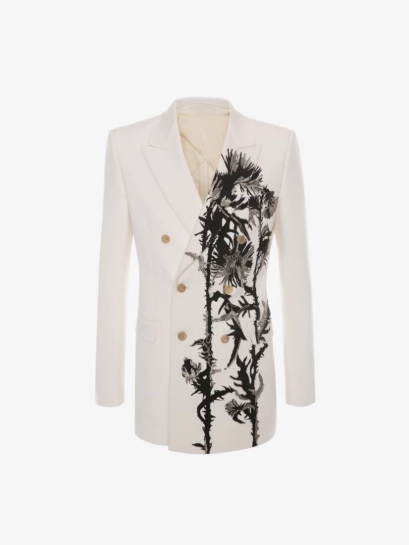 Embroidered Thistle Double Breasted Jacket