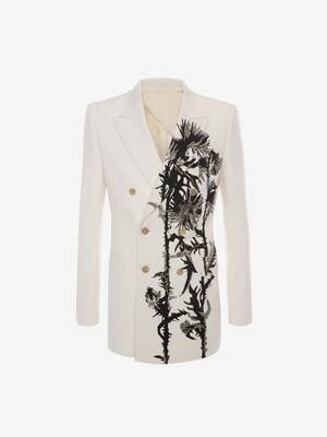Embroidered Thistle Double-Breasted Jacket