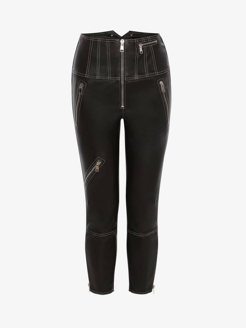 Display a large version of the product image 1 - Leather Biker Trouser