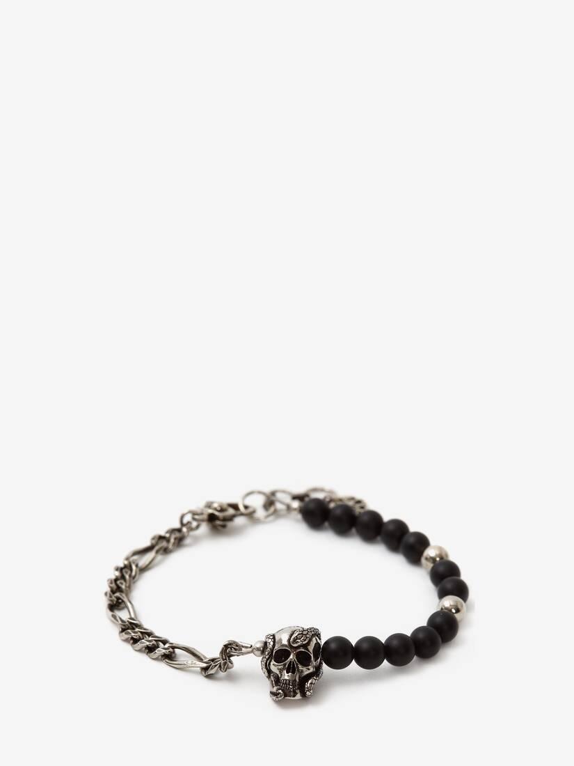 Beads and Skull Bracelet