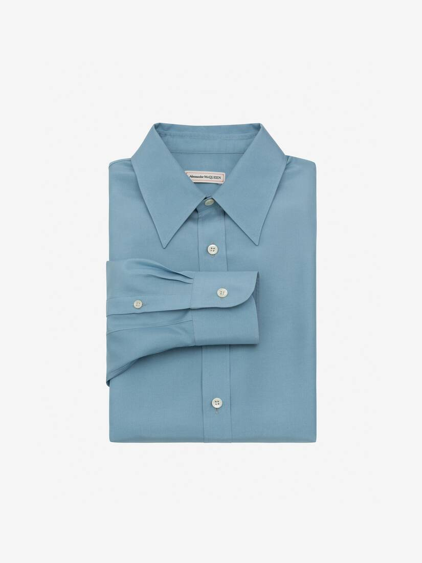 Display a large version of the product image 1 - Silk Poplin Shirt