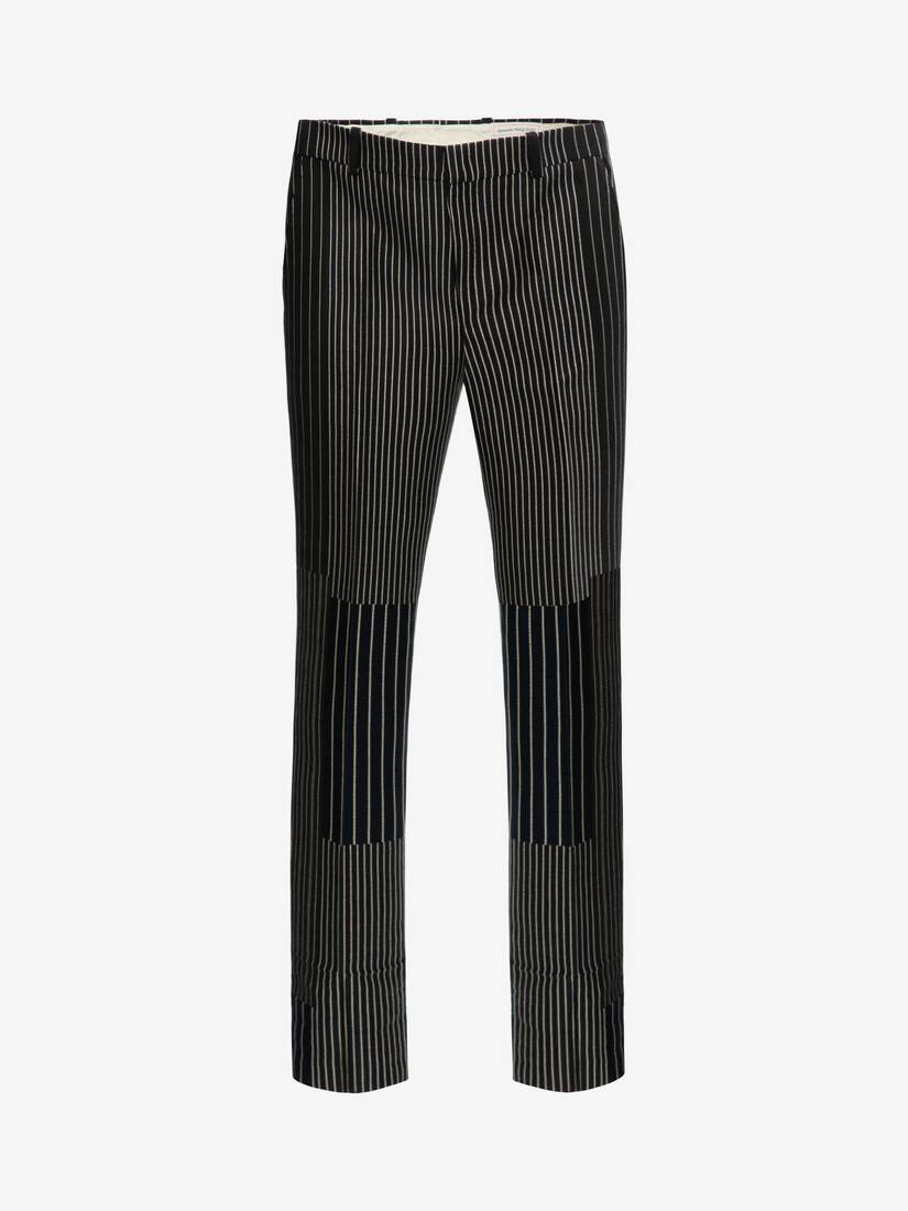 Display a large version of the product image 1 - Patchwork Pinstripe Trousers