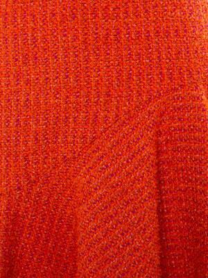 부클레 트위드 미니 드레스