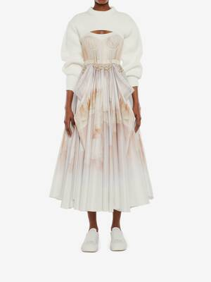 Tulle Toile Bow Drape Dress