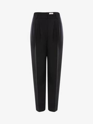 Light Wool Silk Peg Trouser