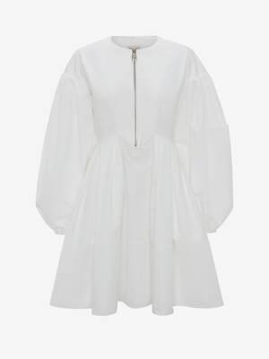 Cocoon Sleeve Polyfaille Mini Dress