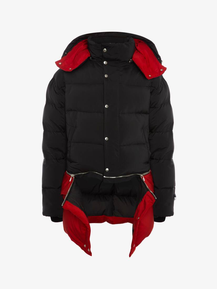 Deconstructed Quilted Down Jacket