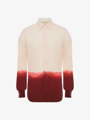 Dip Dye Printed Evening Shirt