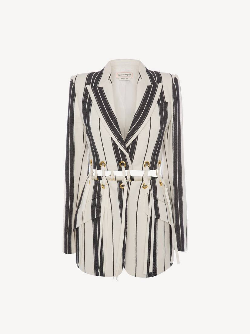Display a large version of the product image 1 - Linen Stripe Jacket