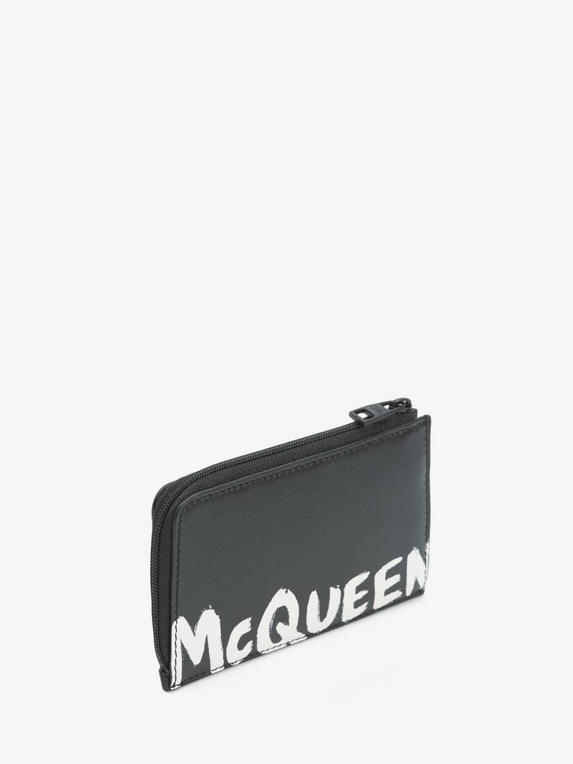 McQueen Graffiti Large Zip Coin Card Holder