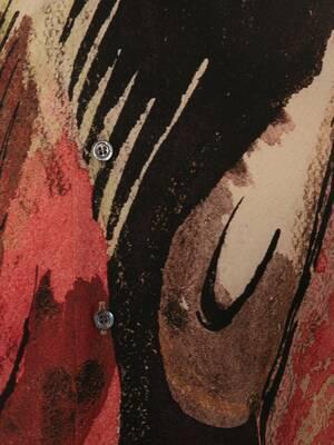 Chemise en popeline de soie à imprimé Henry Moore