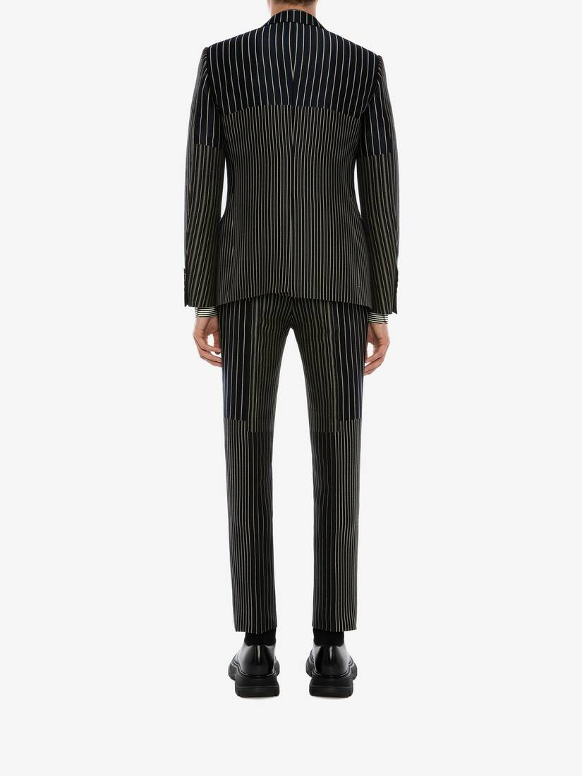 Display a large version of the product image 4 - Patchwork Pinstripe Trousers