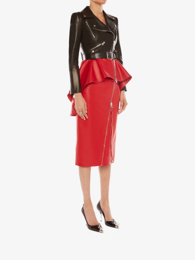 Display a large version of the product image 3 - Leather Pencil Skirt